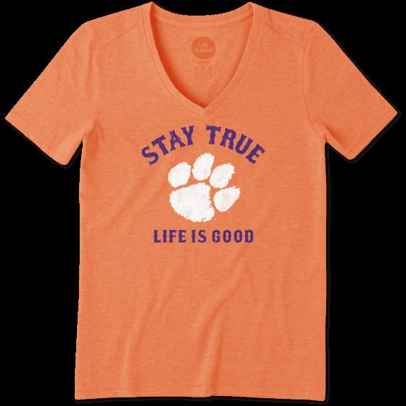 Women's Clemson Tigers Stay True Long Sleeve Cool Vee