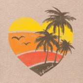Women's Color Block Beach Heart Crusher Tee