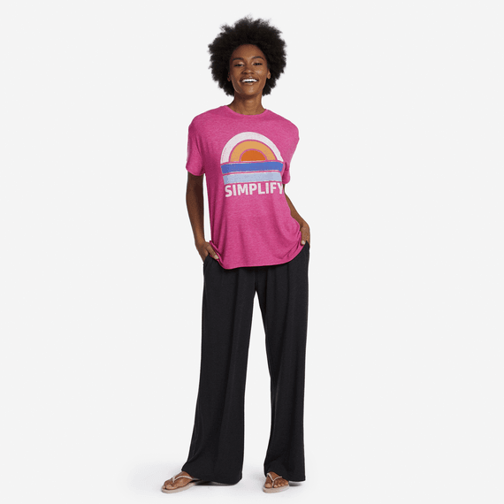 Women's Color Block Sea Sun Favorite Slouchy Tee