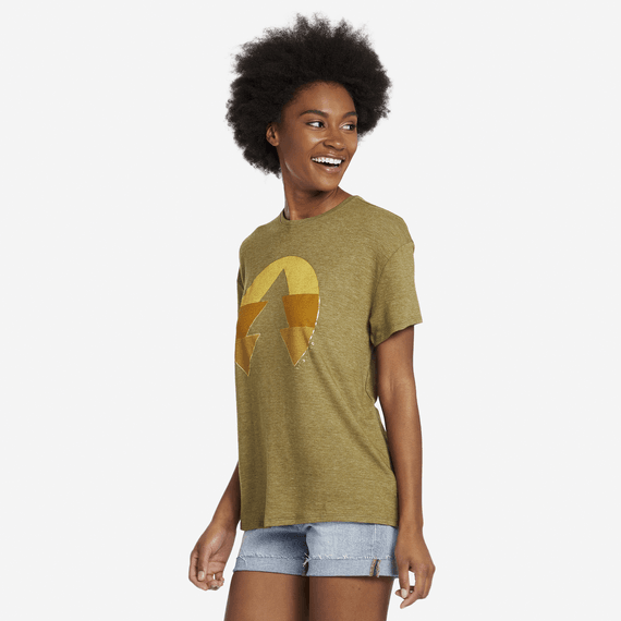 Women's Color Block Tree Favorite Slouchy Tee