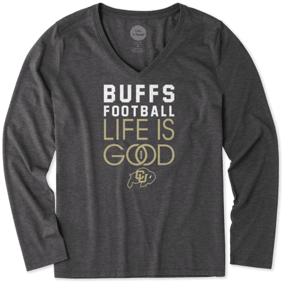 Women's Colorado Buffaloes Infinity Football Long Sleeve Cool Vee