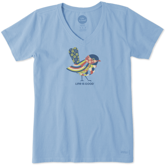 Women's Colorful Bird Crusher Vee