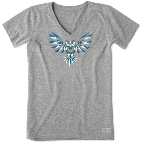 Women's Colorful Owl Crusher Vee
