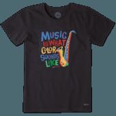 Women's Colorful Saxophone Crusher Tee