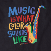 Women's Colorful Saxophone Crusher Tee