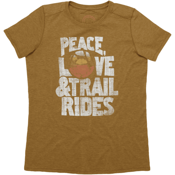 Women's Peace, Love & Trail Rides Cool Tee