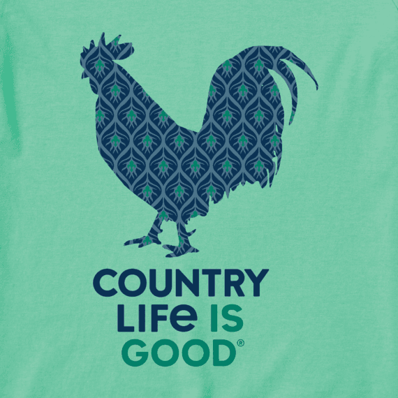 Women's Country Life Is Good Long Sleeve Crusher Vee