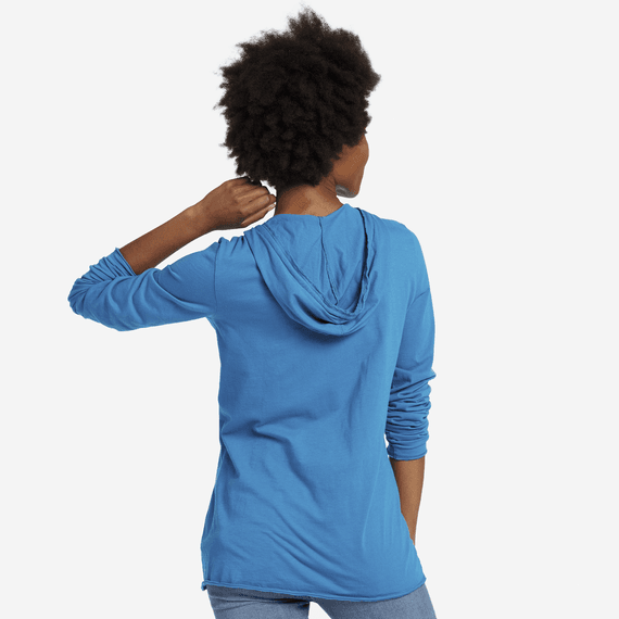 Women's Crush On The World Long Sleeve Hooded Smooth Tee