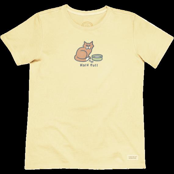 Life Is Good Half Full Vintage Crusher T-Shirt