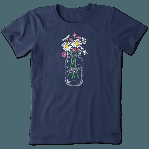 Women's Daisies Jar Crusher Tee