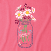 Women's Daisies Jar Crusher Vee