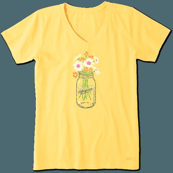 Women's Daisies Jar Crusher Vee