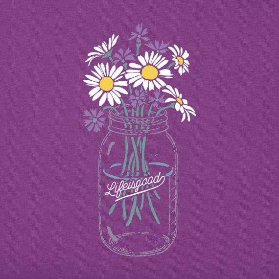 Women's Daisies Jar Long Sleeve Crusher Tee