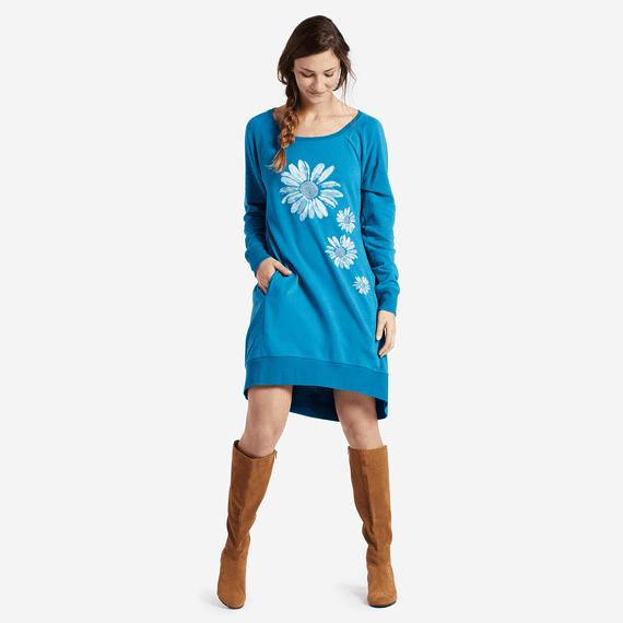 Women's Daisies Sweatshirt Dress