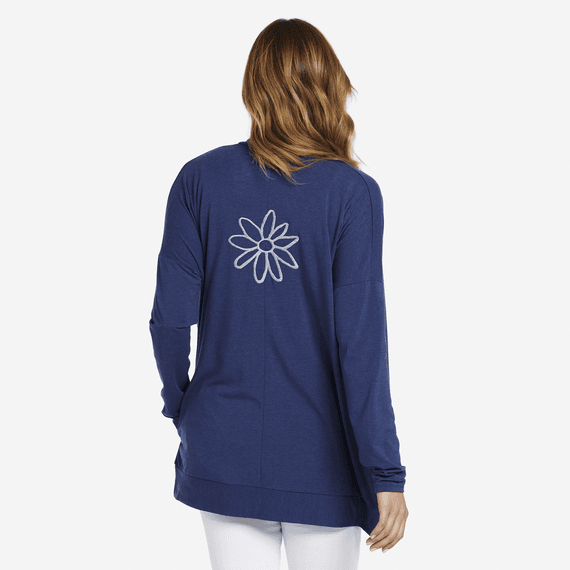 Women's Daisy Embroidery Supreme Blend Cardigan