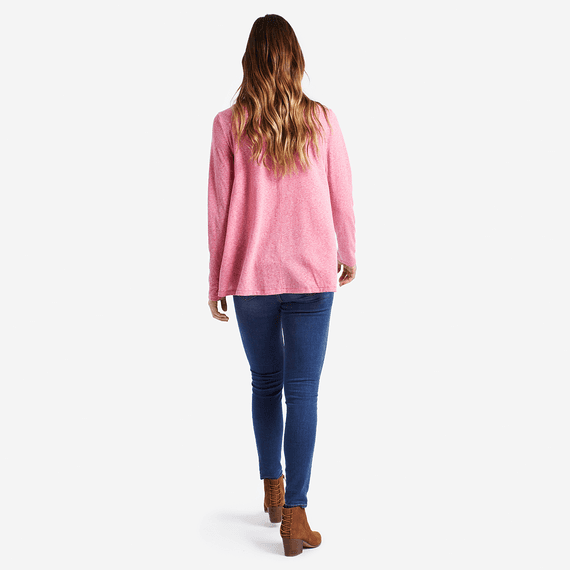 Women's Daisy Long Sleeve Trapeze Tee