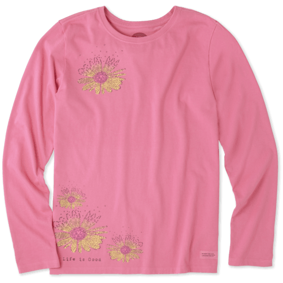 Women's Daisy Love Surprise Long Sleeve Crusher Tee
