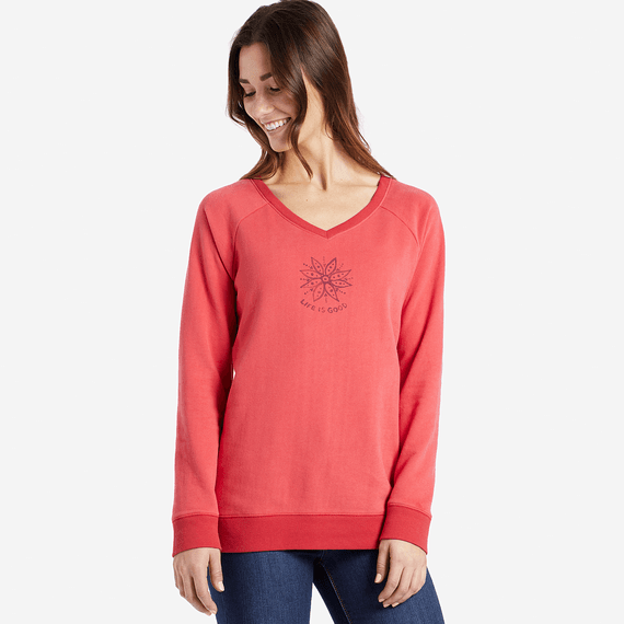 Women's Daisy Mandala Go-To Long Vee