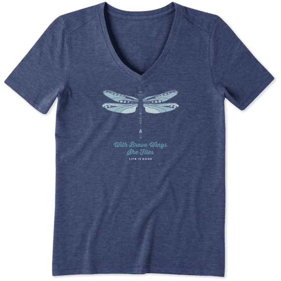 Women's Detailed Dragonfly Cool Vee