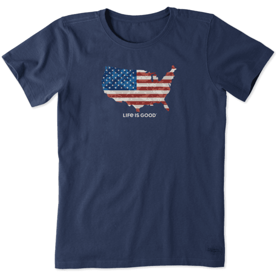 Women's Digital Camo Flag Crusher Tee