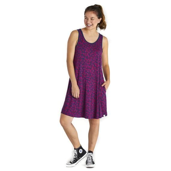 Women's Ditsy Floral Trapeze Pocket Dress