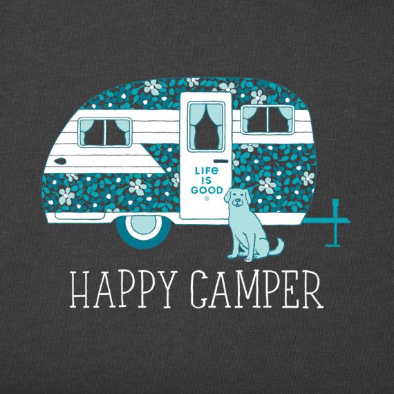 Women's Ditsy Happy Camper Crusher Tee