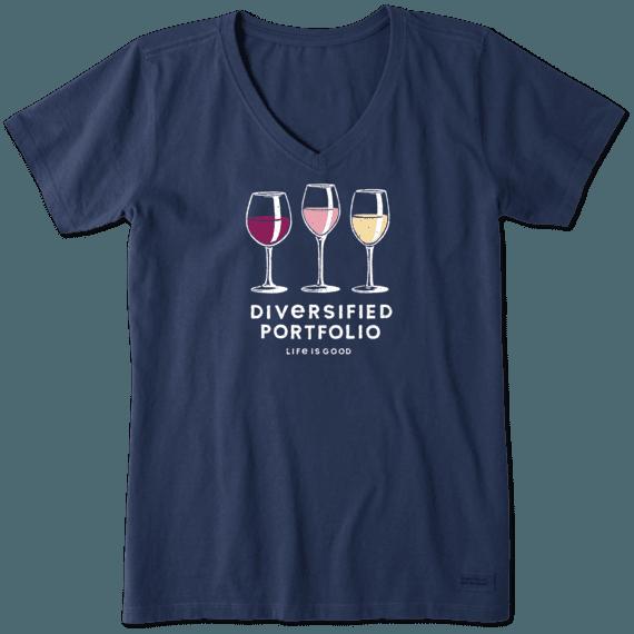 Women's Diversified Portfolio Wine Crusher Vee