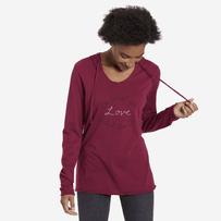 Women's DWYL Hand Script Hooded Long Sleeve Smooth Tee
