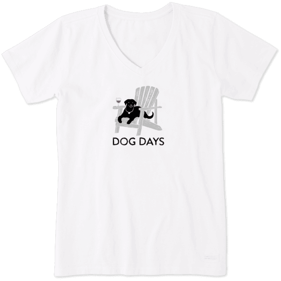 9290ef0d7ed4ed Women's Dog Days Crusher Vee | Life is Good® Official Site