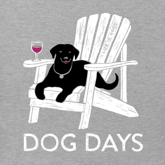 Women's Dog Days Wine Long Sleeve Crusher Tee