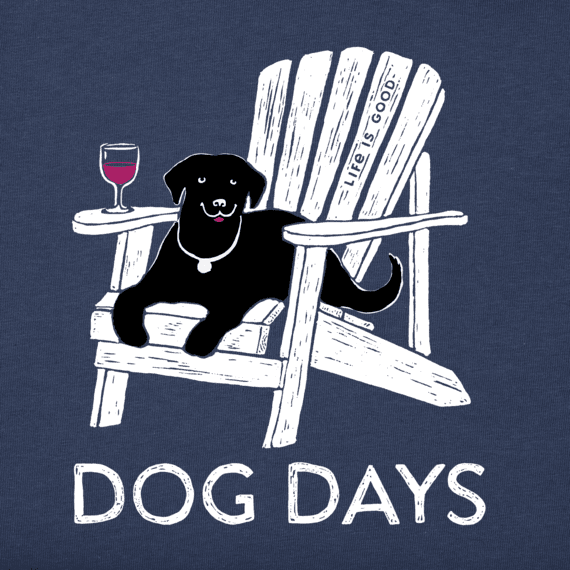 Women's Dog Days Wine Long Sleeve Crusher Vee