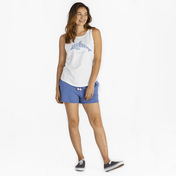 Women's Dolphin Mosaic High-Low Crusher Tank
