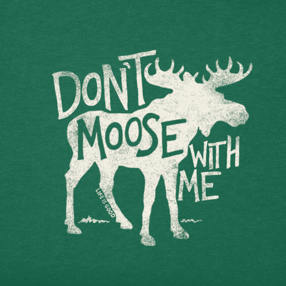 Women's Don't Moose With Me Long Sleeve Crusher Vee