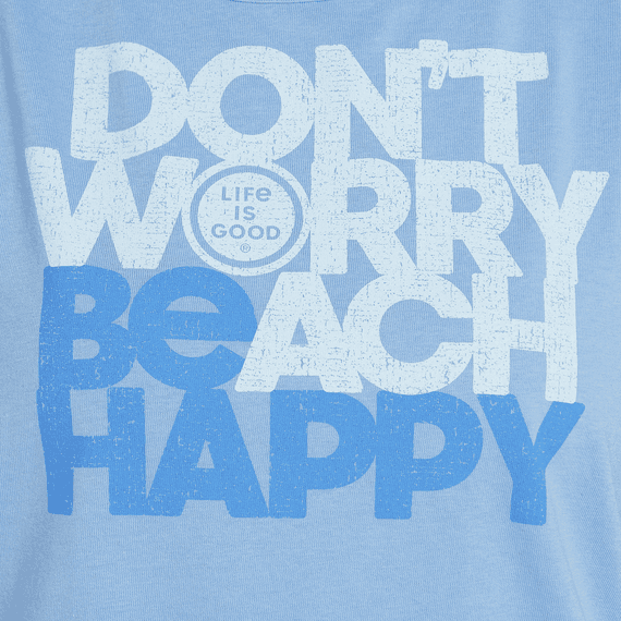 Women's Don't Worry Beach Happy High-Low Crusher Tank