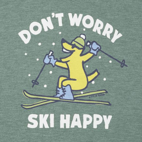 Women's Don't Worry Ski Happy Cool Vee