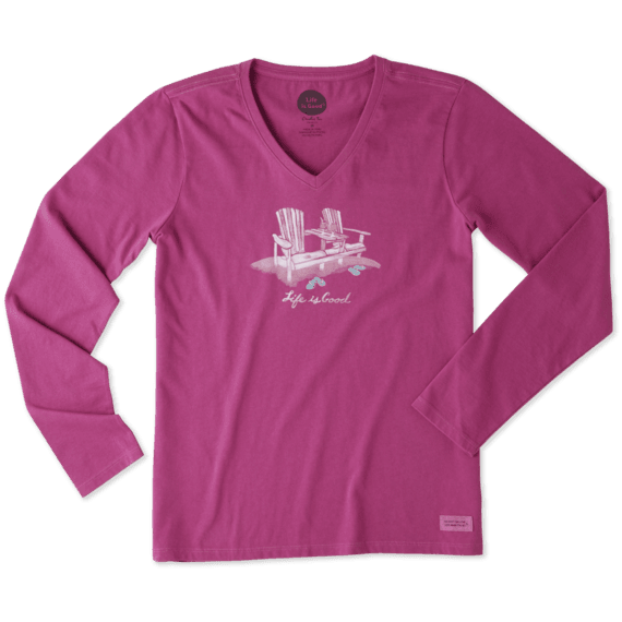 Women's Double Adirondack Long Sleeve Crusher Vee