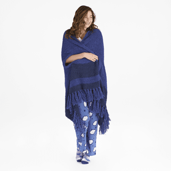 Women's Double Stripe Anytime Cozy Wrap
