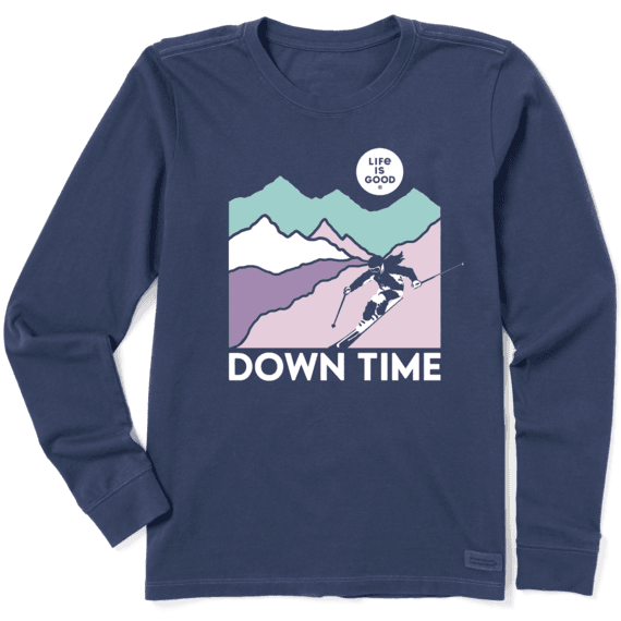 Women's Down Time Long Sleeve Crusher Tee