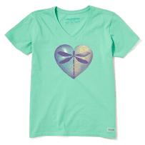 Women's Dragonfly Heart Crusher Vee