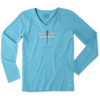 Women's Dragonfly Long Sleeve Crusher Vee