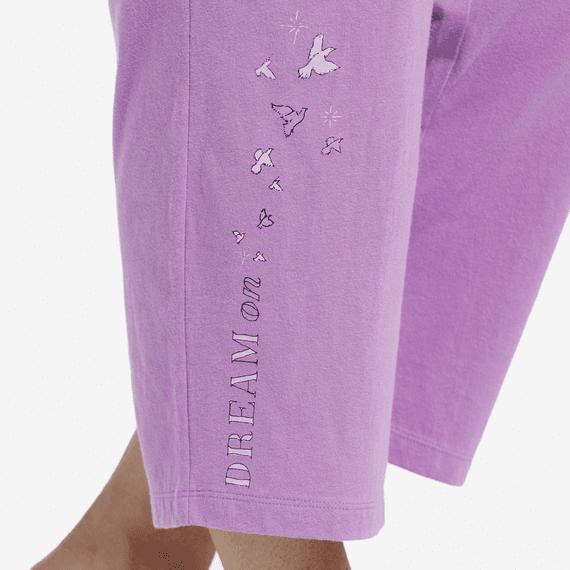 Women's Dream Doves Cropped Sleep Pants