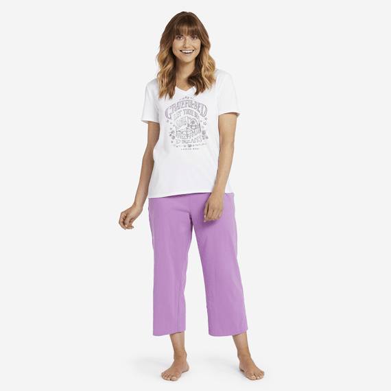 Women's Dream Doves Cropped Sleep Pants