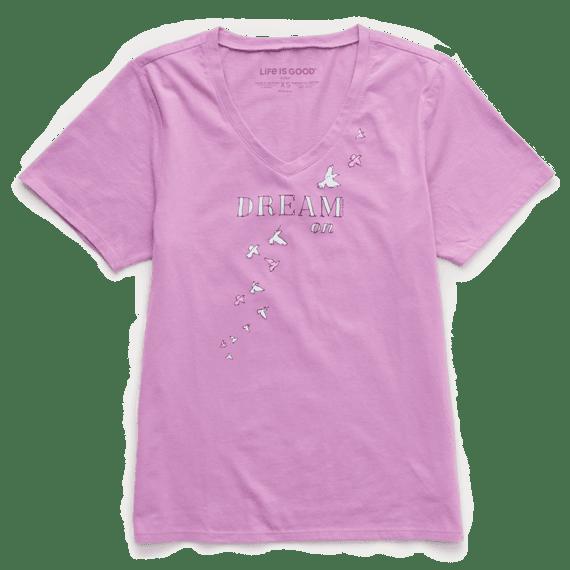Women's Dream On Doves Short Sleeve Sleep Set