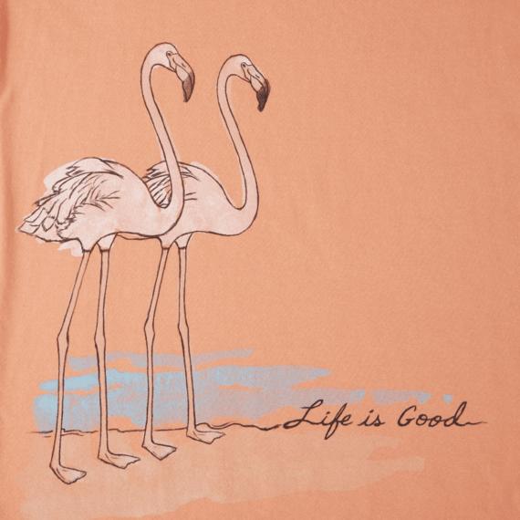 Women's Elegant Flamingos Crusher Scoop Tee