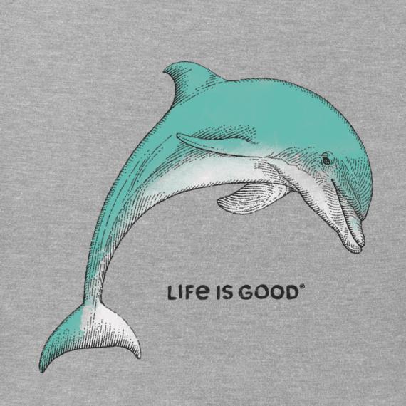 Women's Engraved Dolphin Crusher Vee
