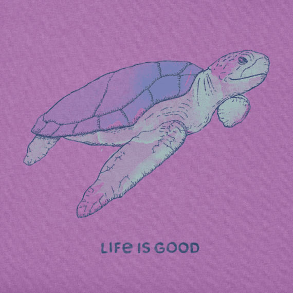 05253c8d Women's Engraved Sea Turtle Crusher Tee | Life is Good® Official Site
