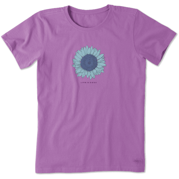 Women's Engraved Sunflower Crusher Tee