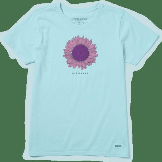 Women's Engraved Sunflower Crusher Tee