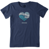 Women's Engraved Wave Heart Crusher Tee