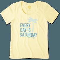 Women's Every Day Is Saturday Crusher Scoop Neck Tee